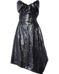 Vivienne Westwood Gold Label Paper Bag Sequined Satin Dress - Lyst