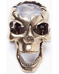 Nasty Gal Crystal Skull Ring - Lyst