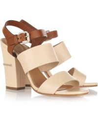 Chloé Two-Tone Leather Sandals - Lyst