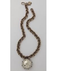 Kelly Wearstler - Chain Necklace with Pyrite Sphere - Lyst
