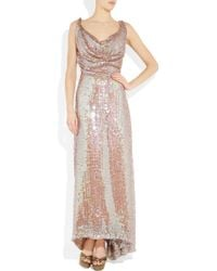 Vivienne Westwood Gold Label Long Savannah Sequined Net Gown - Lyst