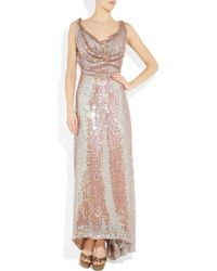 Vivienne Westwood Gold Label Long Savannah Sequined Net Gown pink - Lyst
