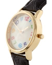 ASOS - Patchwork Stitch Dial Watch - Lyst