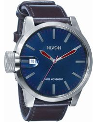 Nixon The Chronicle Leather Watch - Lyst