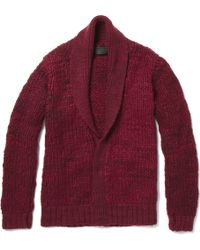 The Elder Statesman Monster Cashmere Shawl Collar Cardigan - Lyst