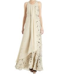 3.1 Phillip Lim Draped Overlay Gown - Lyst