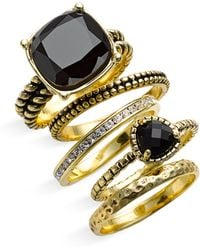 Ariella Collection Multi Stone Stackable Rings - Lyst