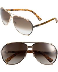 Dior 'Chicago' 63Mm Metal Aviator Sunglasses - Lyst