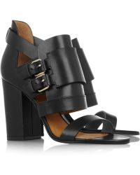 Givenchy Buckled Leather Sandals - Lyst
