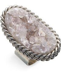 Liz Larios Jewelry Oblong Drusy Ring - Lyst