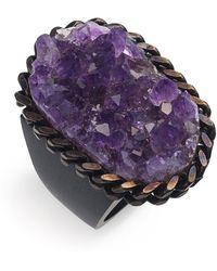 Liz Larios Jewelry Amethyst Cluster Ring - Lyst