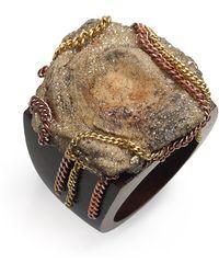 Liz Larios Jewelry Mushroom Sand Drusy Ring - Lyst