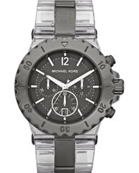 MICHAEL Michael Kors Michael Kors Bel Aire Gunmetal Chronograph Watch - Lyst