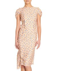 Nina Ricci Floral Sheath Dress - Lyst
