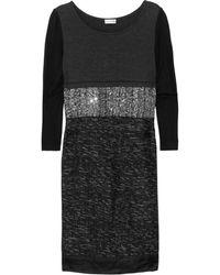 Philosophy di Alberta Ferretti Contrast Paneled Woven Dress - Lyst