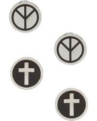 River Island | Peace Cross Earring Pack | Lyst