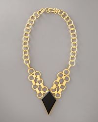 Stephanie Anne Aurora Chain Necklace gold - Lyst