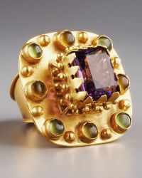 Stephanie Anne Multi-stone Betrothal Ring gold - Lyst
