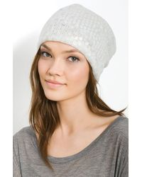 Tarnish Sequin Slouchy Cap - Lyst