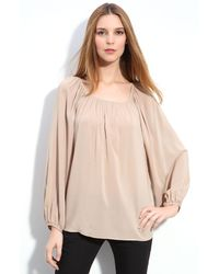 Theory Jencia Oversized Peasant Blouse - Lyst