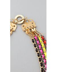 CC SKYE - Neon Multi Chain Necklace - Lyst