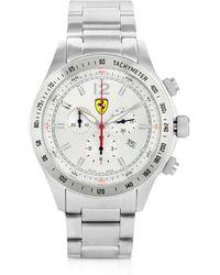 Ferrari - Scuderia Ferrari Stainless Steel Chrono Watch - Lyst