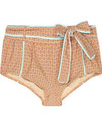 J.Crew - Flower Foulard Bikini Briefs - Lyst