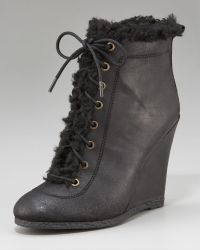 Juicy Couture - Candid Faux-shearling Wedge Boot - Lyst