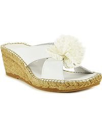 Andre Assous   Rumba - White Leather Espadrille Wedge Sandal   Lyst