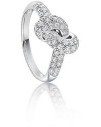 Astley Clarke Love Knot Ring In Pink Rose Lyst