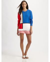 Pret-a-surf | Colorblock Crewneck Sweater | Lyst