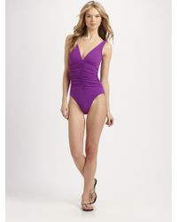 Karla Colletto One-piece Ruched Swimsuit - Lyst