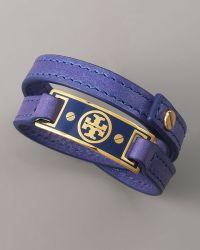 Tory Burch Logo Wrap Bracelet, Purple - Lyst