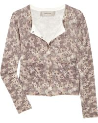 Emma Cook - Floral-print Knitted Cotton Cardigan - Lyst