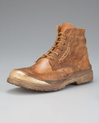 True Religion | Oswald Distressed Wing-tip Boot | Lyst
