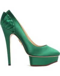 Charlotte Olympia Paloma green - Lyst