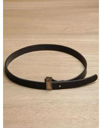 Damir Doma - Womens Tarnished Metal And Leather Belt - Lyst