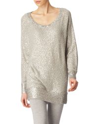 Donna Karan New York Sequinned Jumper - Lyst