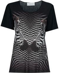 Emma Cook - Zebra Print T-shirt - Lyst