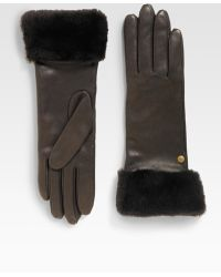Ugg Long Shearling Cuff Gloves - Lyst