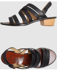 Lanvin Low-heeled Sandals - Lyst