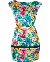 Marc By Marc Jacobs Floral Print Jerrie Shirt Dress multicolor - Lyst