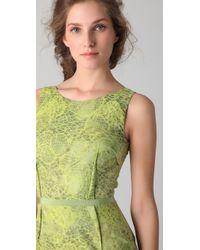 Peter Som - Croc Jacquard Dress - Lyst