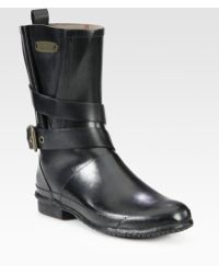Burberry Mid-Calf Buckle Rain Boots - Lyst