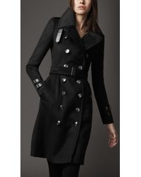 Burberry Regimental Wool Trench Coat - Lyst