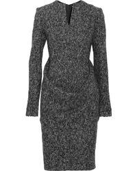 Jil Sander Wool-blend Tweed Dress - Lyst