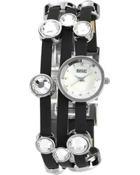 Badgley Mischka | Round Case Leather Bracelet Watch | Lyst