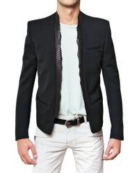 Balmain Python Collar Sport Jacket - Lyst