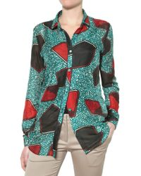 Burberry Prorsum - Silk and Cotton Voile Shirt - Lyst
