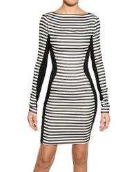 Gareth Pugh Stripey Stretch Silk Jersey Dress - Lyst